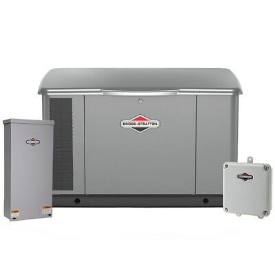 Briggs Stratton 20kw Standby Generator System W Wi-fi Steel 100a Servic...
