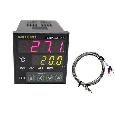 110v Digital Pid Inkbird Temperature Controller Itc-100vh K Sensor Thermostat