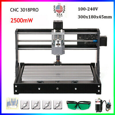 Cnc 3018 Pro Engraving Machine Mini Diy Wood Router Grbl Control W 2500mw O3y5