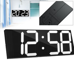 Digital Large Big Digits LED Wall Desk Clock w/ Stopwatch Countdown, Auto dimmer