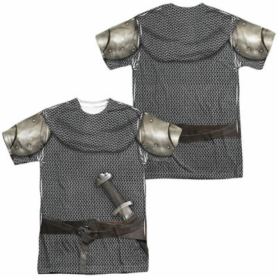 MEDIEVAL KNIGHT ARMOR Printed 2-Sided Men's T-Shirt Easy Halloween Costume S-3XL
