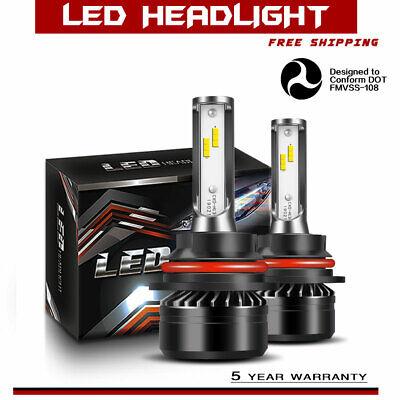LED Headlight Kit 9004 HB1 6000K Hi/Low Bulbs for Dodge Ram 2500 1994-2002 DTA
