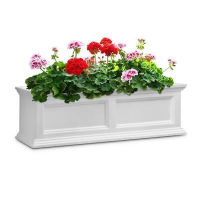 36 Fairfield Window Box - Color: White