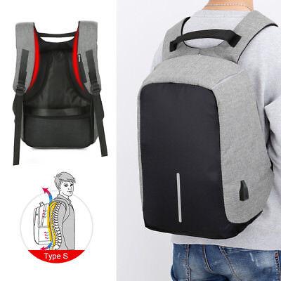 Anti- theft Smart Laptop Travel Ergonomic Backpack USB Charging School Bag USA