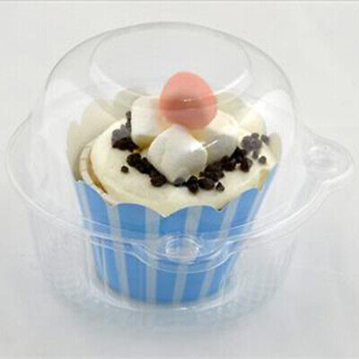 Plastic Cupcake Boxes (100 Clear Plastic Jumbo Cupcake Muffin Display Box Pods Clamshell)