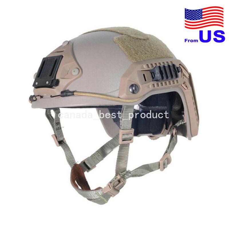 FMA Adjustable Maritime Helmet ABS For Airsoft Paintball DE Tan USA