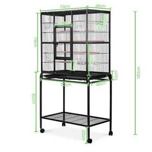 Pet Parrot Aviary Bird Cage Wheels Stand 160cm Black Sydney City Inner Sydney Preview