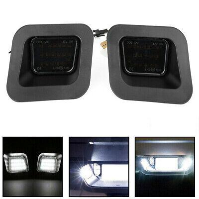 LED Rear License Plate Lights SMOKED LENS For Dodge Ram 1500 2500 3500 03-18