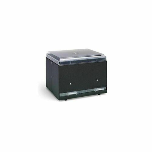 Vollrath 3855-06 Straw Boss Black Single Sided Straw Dispenser