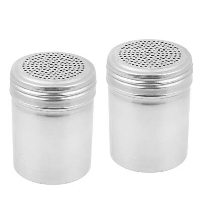 Set Of 2 Dredge Shakers 10 Oz Stainless Steel Spice Shakers By Tezzorio