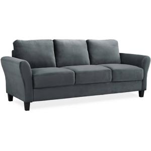 Fabulous Serta Alexa Rolled Arm Sofa Dark Grey Inzonedesignstudio Interior Chair Design Inzonedesignstudiocom