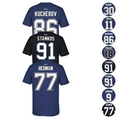 Tampa Bay Lightning Nhl Reebok Player Name   Number Premier Jersey T Shirt Mens