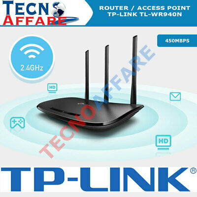 Router Wireless WiFi 450Mbps 4 Porte LAN 1 Wan Access point TP-LINK...