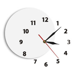 Unusual DIY Wall Clock Out Of Time Moved Some Numbers Of Hours On The Wall Watch