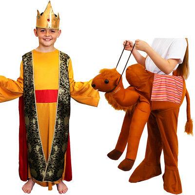 CHILDS KID NATIVITY KING AND RIDE ON CAMEL COSTUME WISE MAN FANCY DRESS CASPAR (Childs Camel Costume)