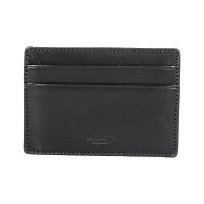 Shinola Detroit Men's Small Black Leather Card Case Wallet S0310018000