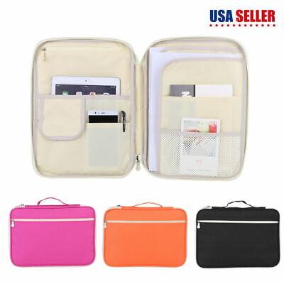 3 Colors A4 Document Bag File Folder Portfolio Organizer Zippered Carry Cases