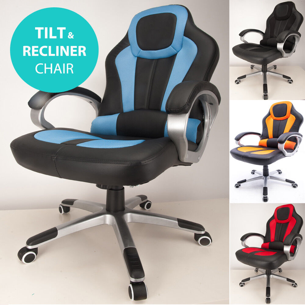 Admirable Details About Raygar Deluxe Racing Car Sport Seat Gaming Chair Reclining Desk Office Chair Inzonedesignstudio Interior Chair Design Inzonedesignstudiocom