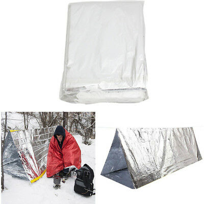 Portable 2 Person Tent Survival Hiking Camping Shelter Outdoor Emergency Gear