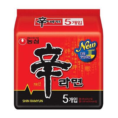 Nongshim Shin Ramyun/Ramen Spicy Hot Noodle Soup (5 Pcs) / Korean Food