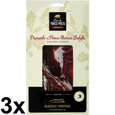 Used, 3x Ham Iberico Casa Porco Preto Iberian Air Dried Shoulder Ham Acorn Sliced 80g for sale  Shipping to United States