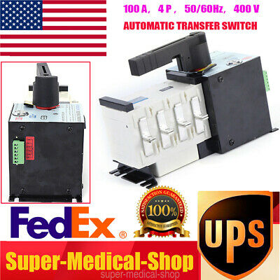 100 Amp 400 V Generator Automatic Transfer Switch 4p 5060hz Dual Power Pc Level