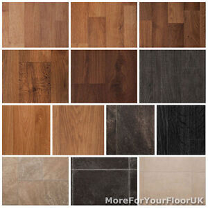 Quality vinyl flooring roll cheap wood or tile effect for Wood look linoleum roll