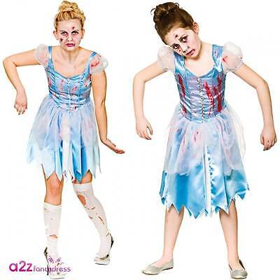Matching Womens Halloween Costumes (WOMEN GIRLS ZOMBIE CINDERS AFTER DARK HALLOWEEN MATCHING FANCY DRESS)
