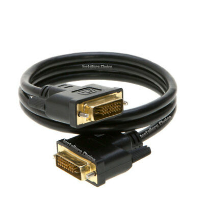 6 Feet DVI-D Dual Link 24+1 Male to Male Video Cable Adapter Gold Plated
