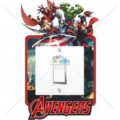 Home Decoration - AVENGERS MARVEL LIGHT SWITCH SURROUND STICKER DECAL KIDS BOYS GIRLS BEDROOM