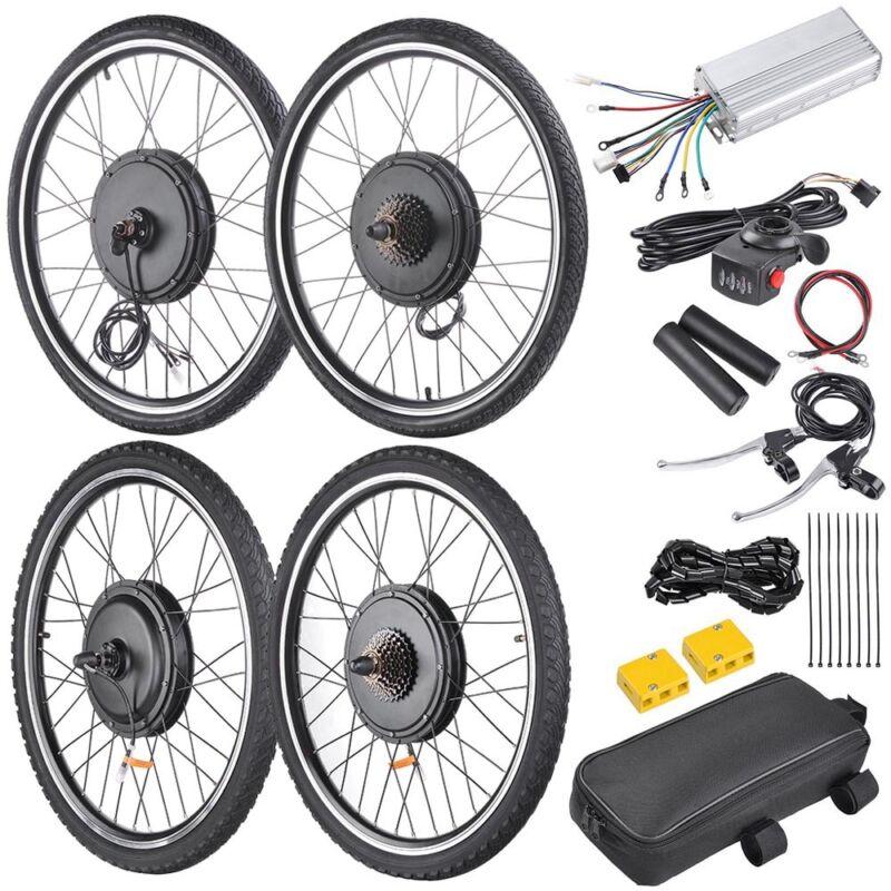 "48V 1000W 26"" Front Rear Wheel Electric Bicycle Motor E-Bike Conversion Kit"
