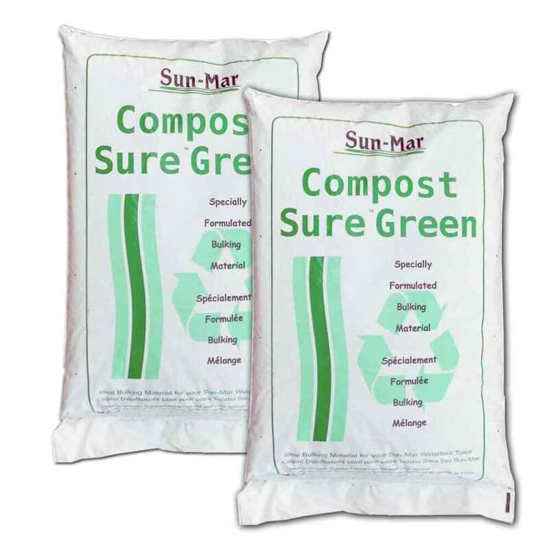 Sun-Mar Compost Sure Peat Moss and Hemp Mix 8 Pound Green Bag Pack of 2