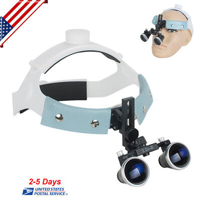 3.5x 420mm Dental Surgical Loupes Medical Headband Binocular Glass Magnifier Usa