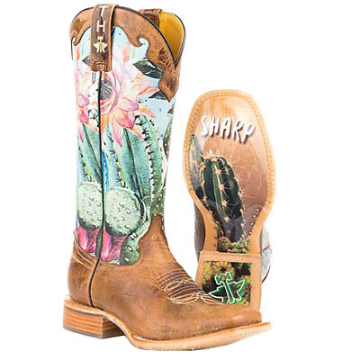 Tin Haul Women's Cactilicious Looking Sharp Sole Cowgirl Boots - Square - Cowgirl Look