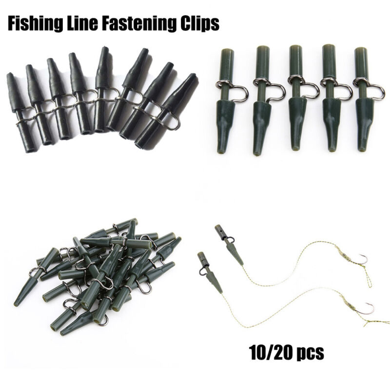 Tool Q-Shaped Swivels Fixed Lines Carp Fish Accessories Safety Lead Clips Set