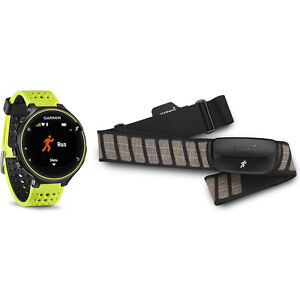 Garmin Forerunner 230 GPS Force Yellow Watch with Chest Strap Heart Rate Monitor