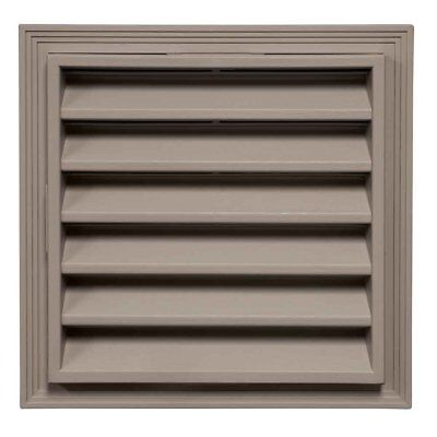 "Mid-America 12"" Square Vinyl Gable Vents - 008 Clay"