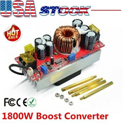 40a Dc-dc Boost Converter Step Up Power Regulator Module Constant Current 1800w