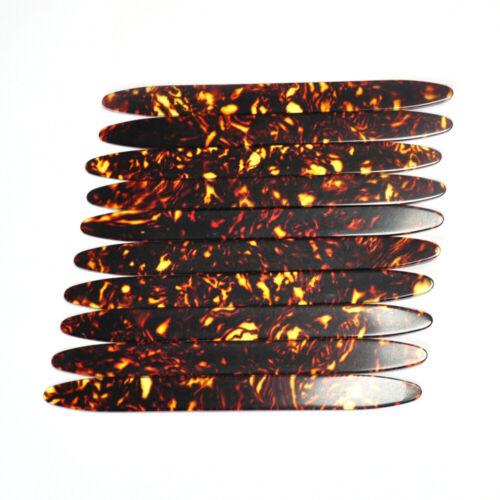 10Pcs Gauge 0.71mm Celluloid Strips Oud Pick Reeshe for Oud Qadim Brown Tortoise