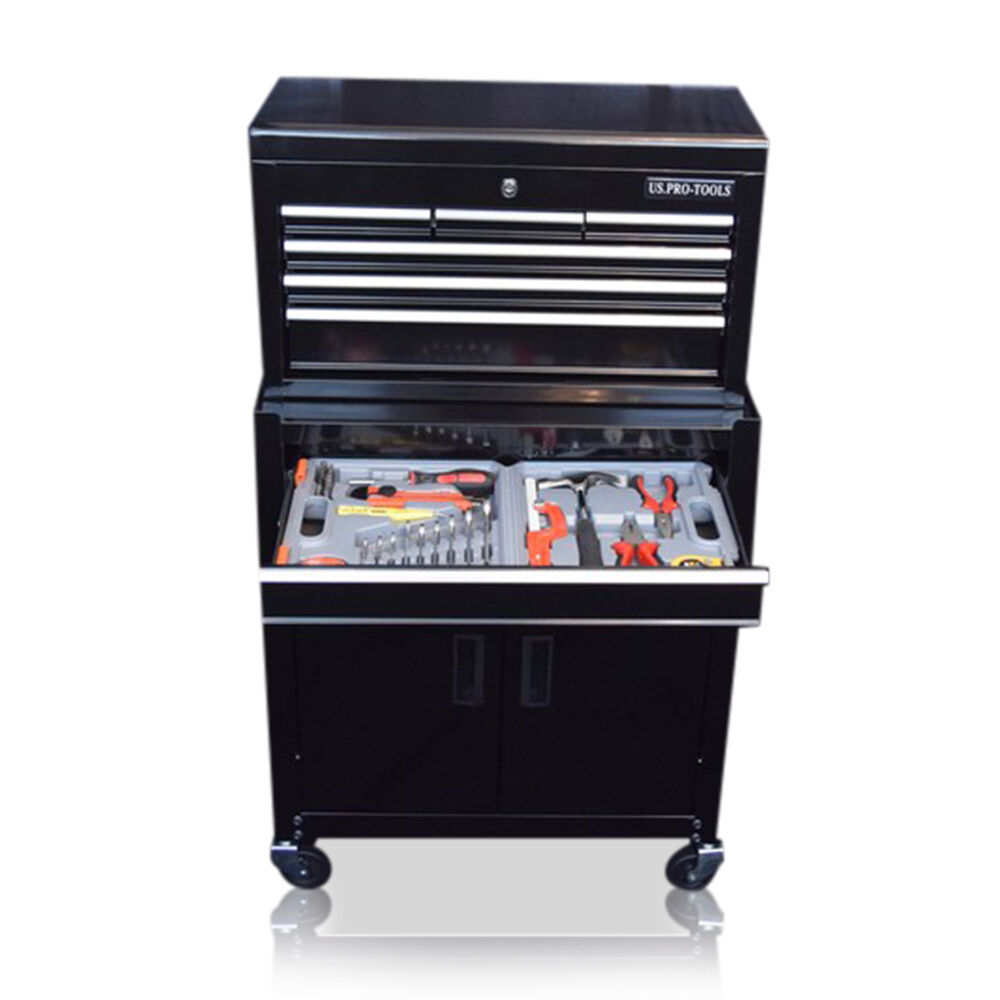 350 US PRO TOOLS AFFORDABLE TOOL CHEST BOX ROLLCAB TOOL