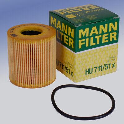 Mann HU 711/51 X Ölfilter Filtereinsatz für FORD JAGUAR MINI OPEL PEUGEOT ()