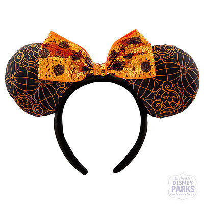 Authentic Disney Parks Minnie Mouse Ears Halloween Headband - Halloween Mouse