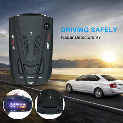 Car Gps Radar Detector 16 Band Voice Alert V7 Anti 360 Degree Warning Laser
