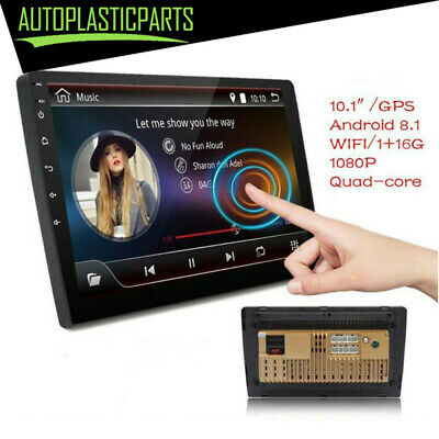 "10.1"" MP5 Player Android 8.1 Quad Core 2 Din Car Stereo Radio GPS Wifi Touch 16G"