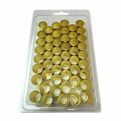 50 Pack Brass Ferrules 0.625 Inch I.d X 1.0 Inch For Air Hose Crimp Ring