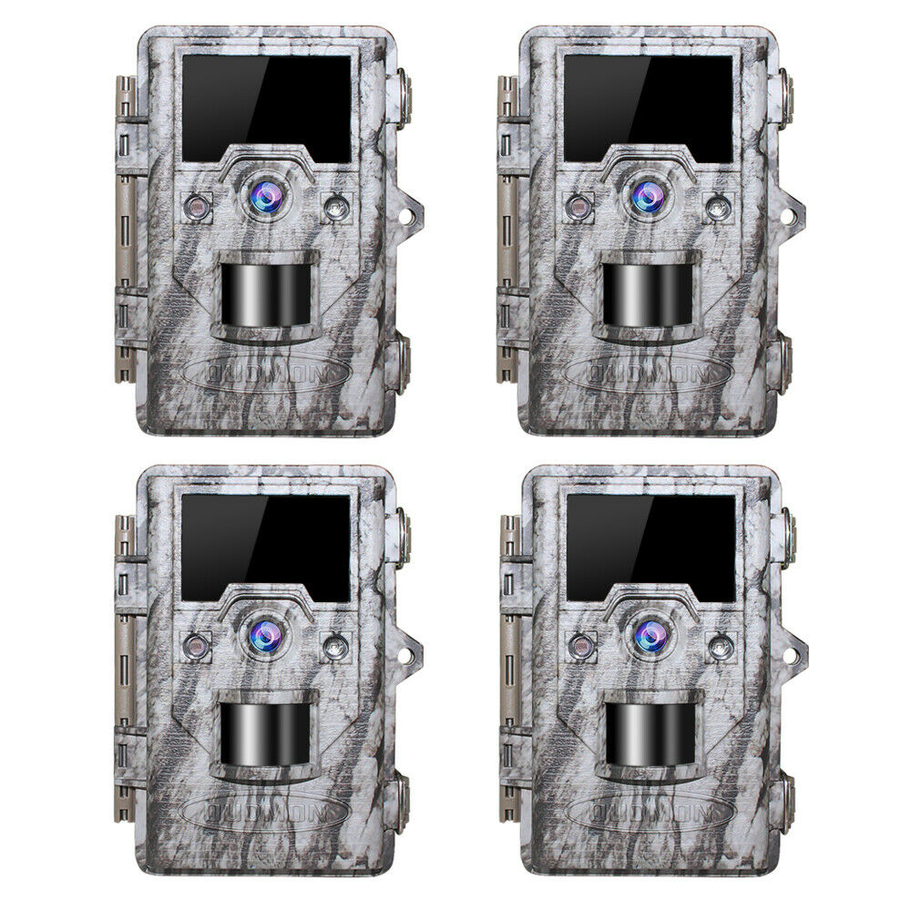 Trail Game Camera 16MP FHD 1080P Waterproof IR Hunting Scout