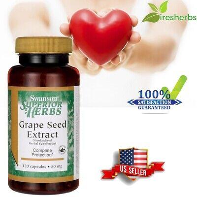 #1 BEST GRAPE SEED EXTRACT HEART EYE HEALTH ANTIOXIDANT SUPPLEMENT 50mg 120