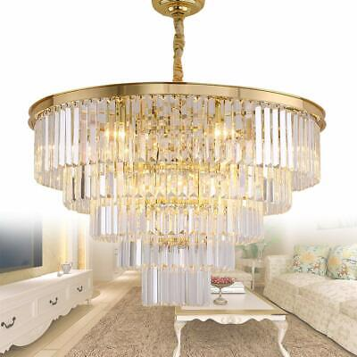 5927283fb2 Meelighting Gold Plated Modern Crystal Chandeliers Lighting Contemporary  Pendant Chandelier Ceiling Lamp Lights Fixture 5-Tier (16 Lights) for Dining  Room ...