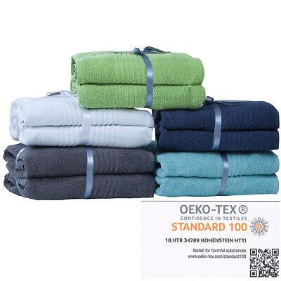 Handtuch Duschtuch Gästetuch 6er Handtuchset 2 pro Grösse 100% Baumwolle Frottee (Gast Handtücher)