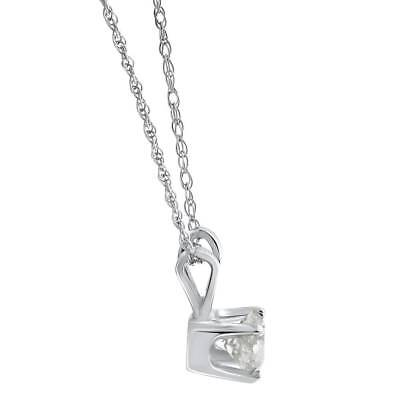 1/2ct Solitaire Round Diamond White Gold New Pendant Womens Necklace 1